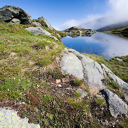 One of two Lakes of the Clouds in the col between Mount Washington and Mount Monroe in New Hampshire's White Mountains.