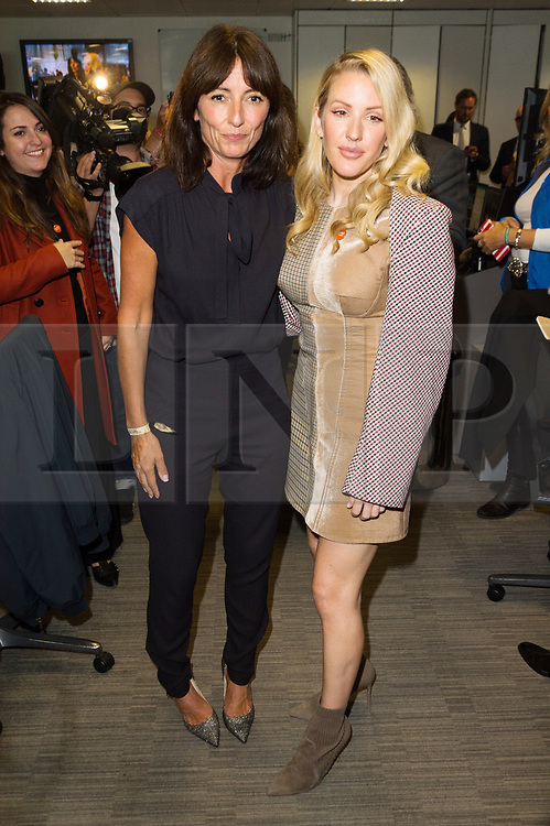 © Licensed to London News Pictures. 11/09/2017. DAVINA MCCALL and ELLIE GOULDING takes part in the on the annual BGC Partners Charity Day in commemoration of its 658 friends and colleagues and 61 Eurobroker employees lost in the World Trade Center attacks on 9/11. PIcture Credit: Tang/LNP