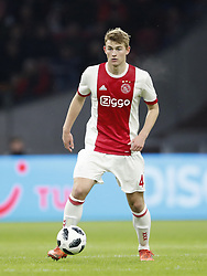 Matthijs de Ligt of Ajax during the Dutch Eredivisie match between Ajax Amsterdam and NAC Breda at the Amsterdam Arena on February 04, 2018 in Amsterdam, The Netherlands