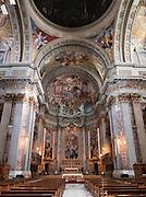 Interior of Sant'ignazio Church, Rome, Italy.