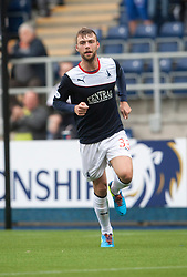 Falkirk's Rory Loy cele scoring their third goal.<br /> Falkirk 3 v 1 Dundee, 21/9/2013.<br /> ©Michael Schofield.