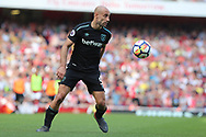West Ham United defender Pablo Zabaleta (5) during the Premier League match between Arsenal and West Ham United at the Emirates Stadium, London, England on 22 April 2018. Picture by Bennett Dean.