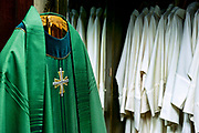 Priests liturgical vestments.