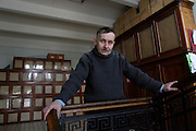 St Petersburg, Russia, 10/02/2004..Founded in 1714 by Peter the Great, the Komarov Institute is one of the largest botanical collections in the world.  Dr Dmitry Geltman, Deputy Director for Science at the institute.