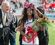 Jaz'myne Perry is crowned Lamar High School Homecoming Queen during a football game between Bellaire High School and Lamar High School at Delmar Stadium, October 21, 2016.
