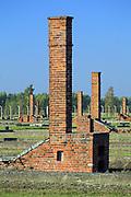Auschwitz II-Birkenau<br /> Panorama of the Camp at Auschwitz II-Birkenau, Poland