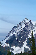The North Shoulder of Mount Shuksan from Heather Meadows in the Mount Baker-Snoqualmie National Forest, Washington State, USA