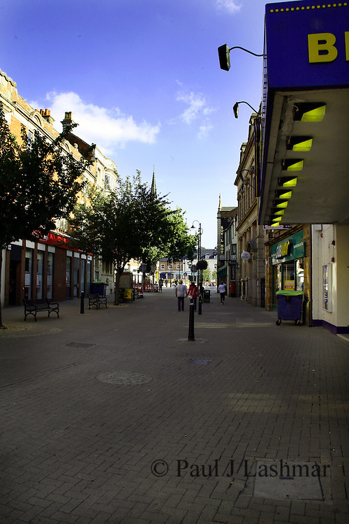 Looking East along High Street in Kettering Town centre