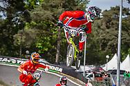 #540 (GUZMAN MONTESINOS Raimundo) CHI during round 4 of the 2017 UCI BMX  Supercross World Cup in Zolder, Belgium.