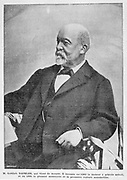 Gottlieb Daimler (1834-1900), German industrial pioneer.  With his partner Wilhelm Maybach (1846-1929), he he produced   small, lightweight and fast-running  engines, which made the automotive revolution possible. From 'La Vie au Grand Air'. (Paris, 18 March  1900).