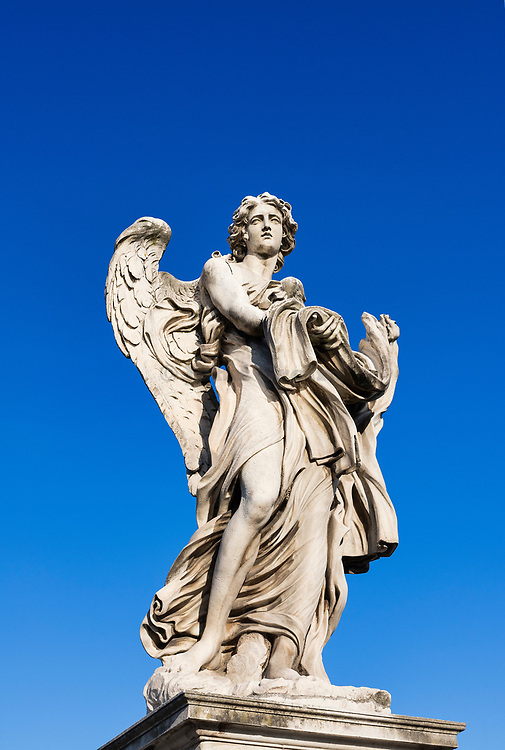 Angel with the Garment and Dice, Ponte Sant'Angelo bridge, Rome, Italy