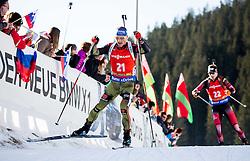 Erik Lesser (GER) during Men 12,5 km Pursuit at day 3 of IBU Biathlon World Cup 2015/16 Pokljuka, on December 19, 2015 in Rudno polje, Pokljuka, Slovenia. Photo by Vid Ponikvar / Sportida