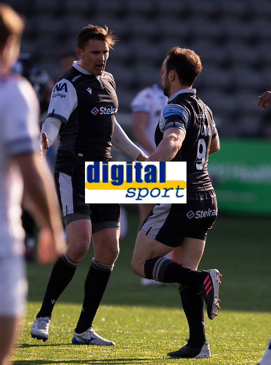 Rugby Union - 2020 / 2p021 Gallagher Premiership - Round 16 - Newcastle Flacons vs Bristol Bears - Kingston Park<br /> <br /> Michael Young of Newcastle Falcons scores the first try of the game to make it 5-0 to Newcastle Falcons<br /> <br /> Credit: COLORSPORT/BRUCE WHITE