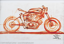Isaac Stenegard's What's the Skinny? 2019 exhibition artwork from the Motorcycles as Art series at the Sturgis Buffalo Chip. Sturgis, SD, USA. Sunday, July 28, 2019. Photography ©2019 Michael Lichter.