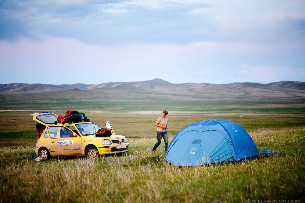Bones and Ryan set up camp in Övörkhangai Province, two days from Ulaanbaatar. The team had driven over 10,000 miles in less than two months.