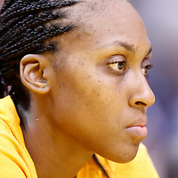 17 June 2014: Los Angeles Sparks forward/center Sandrine Gruda (7) is seen on the bench during the Minnesota Lynx  94-77 victory over the Los Angeles Sparks, at the Staples Center, Los Angeles, California, USA.