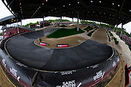 at Round 6 of the 2019 UCI BMX Supercross World Cup in Saint-Quentin-En-Yvelines, France