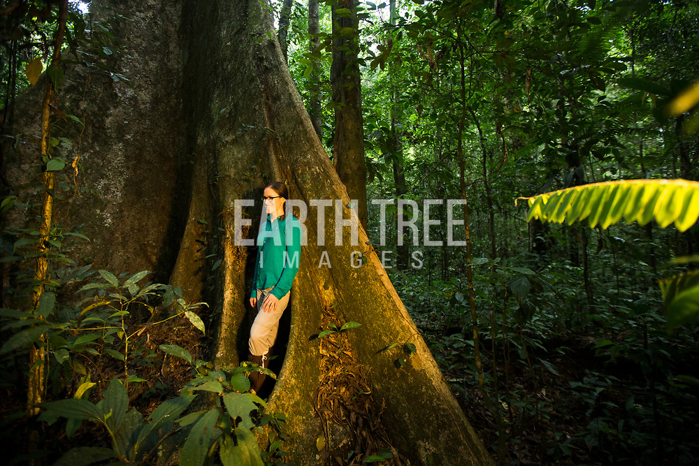 Chelsea Matthews of Rain Forest Action Network is pictured in the Leuser Ecosystem, Sumatra, Indonesia. Photo: Paul Hilton