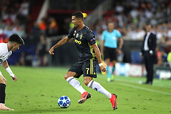September 19, 2018 - Valencia, Spain - Cristiano Ronaldo of Juventus FC during the UEFA Champions League, Group H football match between Valencia CF and Juventus FC on September 19, 2018 at Mestalla stadium in Valencia, Spain (Credit Image: © Manuel Blondeau via ZUMA Wire)