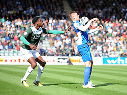 Bristol Rovers' Ryan Brunt holds up the ball  - Photo mandatory by-line: Dougie Allward/JMP - Tel: Mobile: 07966 386802 07/09/2013 - SPORT - FOOTBALL -  Home Park - Plymouth - Plymouth Argyle V Bristol Rovers - Sky Bet League Two