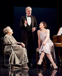 Waste <br /> by Harley Granville Barker<br /> at the Lyttelton Theatre, NT, Southbank, London, Great Britain <br /> 9th November 2015 <br /> <br /> Doreen Mantle as Countess Mortimer <br /> William Chubb as George Farrant<br /> Olivia Williams as Amy O'Connell <br /> <br /> <br /> Photograph by Elliott Franks <br /> Image licensed to Elliott Franks Photography Services