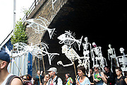 Extinction Rebellion - East London Uprising on July 13th 2019 in Hackney, London, United Kingdom. Hackney Downs to London Fields march.