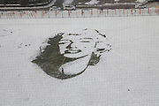CHANGCHUN, CHINA - DECEMBER 08: (CHINA OUT) <br /> <br /> Marilyn Monroe Snow Portrait <br /> <br /> Two students make a portrait of actress Marilyn Monroe on a snow-covered playground at Changchun University of Technology on December 8, 2015 in Changchun, Jilin Province of China. The two students spent two days making the portrait.<br /> ©Exclusivepix Media