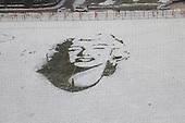 Marilyn Monroe Snow Portrait