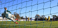 Birmingham City goalkeeper Ann-Katrin Berger saves a penalty from Chelsea's Karen Carney during the Women's Super League match at the Automated Technology Group Stadium, Solihull.
