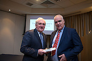 NO FEE PICTURES<br /> 20/1/16  Noel Whelan with former Taoiseach Bertie Ahern at the launch of his book, The Tallyman's Campaign Handbook at the Alexander Hotel in Dublin. Picture: Arthur Carron