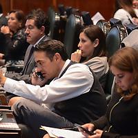 Toluca, México (Diciembre 08, 2016).- Jesús Pablo Peralta, Diputado Local por el PRI, durante el Primer Periodo Ordinario en la LIX Legislatura de la cámara de diputados. Agencia MVT / Arturo Hernández.