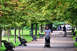 © Licensed to London News Pictures. 05/09/2018<br /> GREENWICH, UK.<br /> Some early autumn colour starting to appear in Greenwich Park, Greenwich.<br /> Photo credit: Grant Falvey/LNP