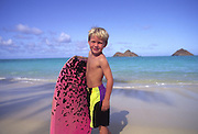 Bodyboarding, Lanikai Beach, Oahu, Hawaii<br />