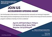 Acceler8Her Opening Night - April 8, 2019