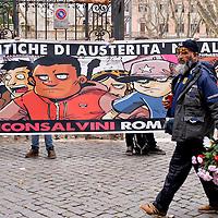 MaiConSalvini, conferenza stampa a Piazza Vittorio.