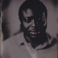 Tintype wetplate collodion plate made at Vine Street, Brighton. Lawrence Stopwar.