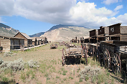 WY: Wyoming, Cody:.At Old Trail Town..Photo #: yellow780..Photo copyright Lee Foster, 510/549-2202, lee@fostertravel.com, www.fostertravel.com..