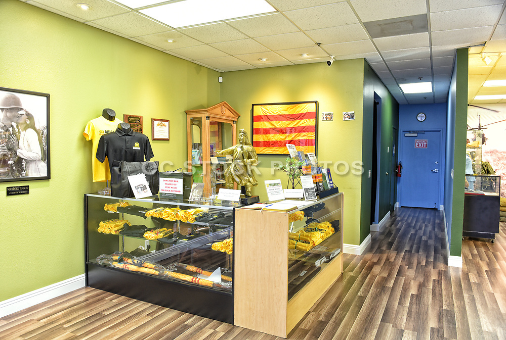 Front Desk and Gift Shop at the The Museum of the Republic of Vietnam in Westminster