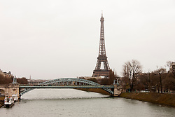 Eiffel Tower at riverbank, Paris, France