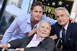 Michael Douglas honored with star on the Hollywood Walk of Fame. Hollywood, California. 06 Nov 2018 Pictured: Cameron Douglas,Kirk Douglas,Michael Douglas. Photo credit: AXELLE/BAUER-GRIFFIN / MEGA TheMegaAgency.com +1 888 505 6342