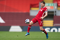 Football - 2020 / 2021 Premier League - Liverpool vs Fulham - Anfield<br /> <br /> Liverpool FC's James Milner in action during todays match  <br /> <br /> CreditCOLORSPORT/TERRY DONNELLY