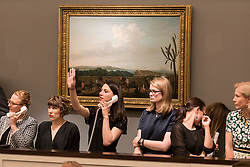 © Licensed to London News Pictures. 06/07/2016. London, UK.  Staff make bids on behalf of clients on the telephone at Sotheby's Old Masters evening sale in New Bond Street. Photo credit : Stephen Chung/LNP