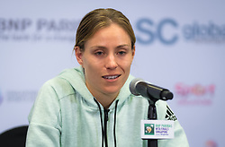 October 24, 2018 - Kallang, SINGAPORE - Angelique Kerber of Germany talks to the media after winning her second match at the 2018 WTA Finals tennis tournament (Credit Image: © AFP7 via ZUMA Wire)