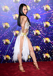 Nancy Xu arriving at the red carpet launch of Strictly Come Dancing 2019, held at BBC TV Centre in London, UK.