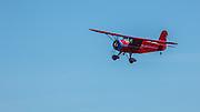 Rearwin Cloudster in flight at WAAAM.