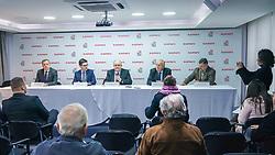 Ato solene de assinatura do contrato entre a Associação Beneficência Portuguesa e a nova gestora do hospital, a Associação Beneficente São Miguel. FOTO: Jefferson Bernardes/ Agência Preview