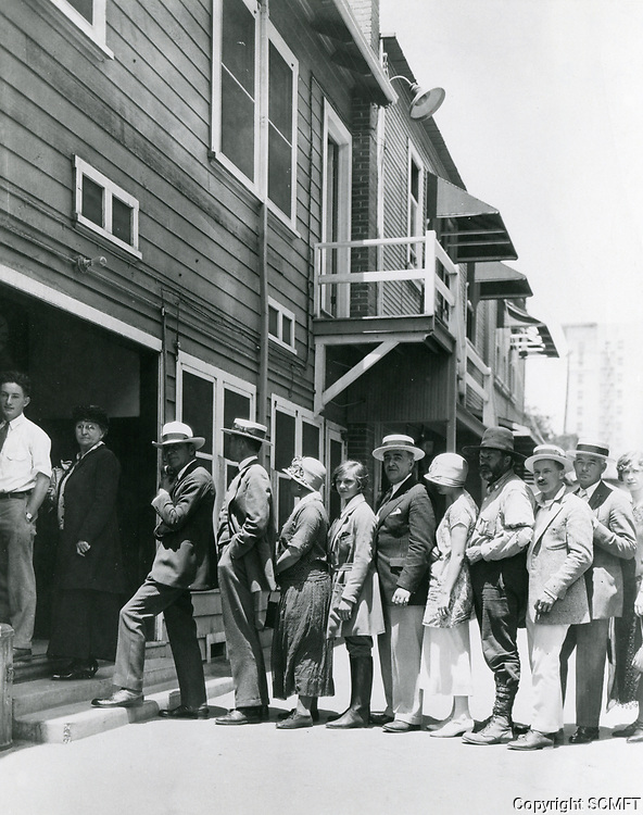 1926 Payroll line at the Famous Players Lasky Studios on Vine Street