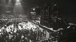 Inside The Springfield Civic Center just before The Grateful Dead perform Live in Concert. Deadheads, Stage & The FM Productions PA / Sound System.
