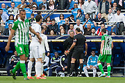 Mourinho argues with the referee