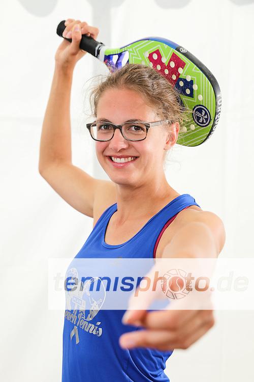 Sarah Fricke, DTB Nationalteam Beach Tennis 2019, Fotoshooting, Saarlouis, 23.08.2019, Foto: Claudio Gärtner